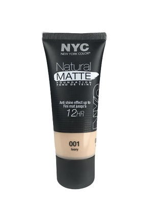 NYC Natural Matte Foundation 001 Ivory