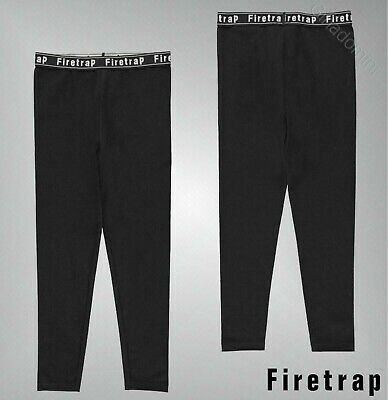 Girls Firetrap Elasticated Logo Waistband Casual Leggings Sizes Age 4-13 Yrs