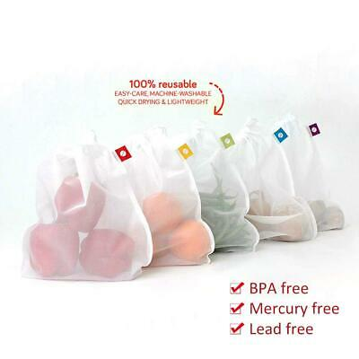 5Pcs Reusable Semi-arc Mesh Produce Bags Vegetable And Fruit Storage Grocery