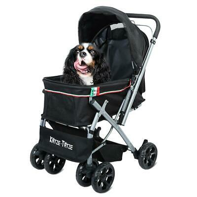 Pet Pushchair Four Wheel Stroller for Cat Puppy Foldable Travel Buggy Stroller