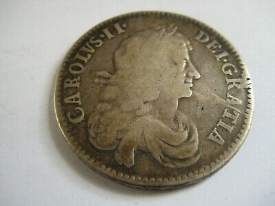 early milled coin 1670 halfcrown