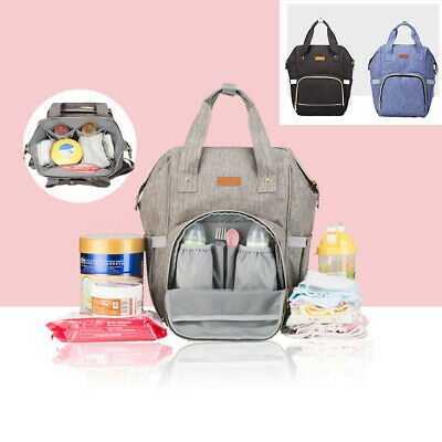 UK Baby Diaper Nappy Mummy Changing bag Backpack Set Multi-Function Hospital