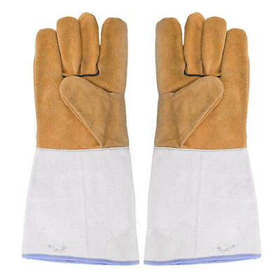 Welding Worker Leather Heat Resistant Gloves Safety Gloves Hand Protection GAG