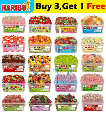 1 X Full Tub Haribo Sweets Candy Box Party Favours Treats For Kids And Adults