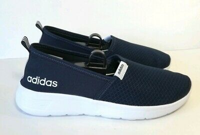 low priced be90b 9b1db NWOB Adidas Lite Racer SO W CG5925 Navy White Slip On Sneaker Shoes Women s  8.5