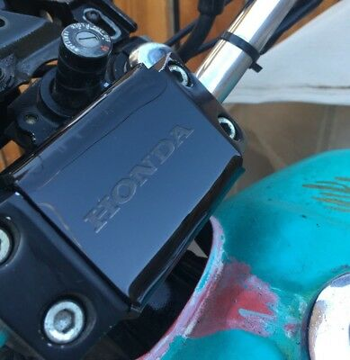 Honda Shadow VT500 CX650 Honda Font fuse cover. Bent Acrylic. Made in AZ
