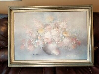 "Russo Oil Painting on Canvas 42"" wide 30"" tall, gorgeous frame"