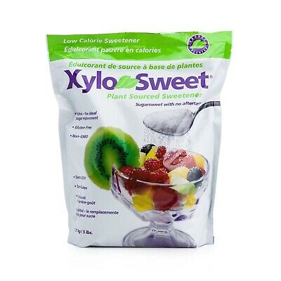 XyloSweet Non-GMO Xylitol Natural Alternative Sweetener Granules, 5lb Resealable