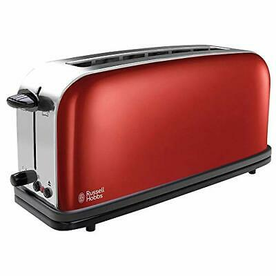 Russell Hobbs Colours Plus 21391-56 – Tostadora, Ranura L(Rojo (Flame Red))