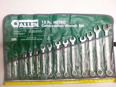 Allen (Usa) 15Pc Metric Combination Wrench Set 7-22Mm - Free Uk Postage!