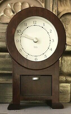 Mantel Clock Wooden Michael Graves Modern Battery Operated Gorgeous Retro 1980