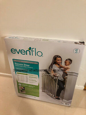 BRAND NEW Evenflo Secure Step Easy Walk Thru Top Of Stairs Gate - FREE SHIPPING