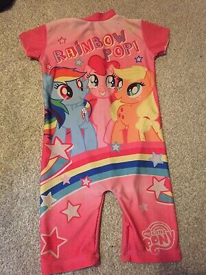 a852bc0cad6d4 Girls Kids Official My Little Pony MLP Swim Suit Swimming Costume Sun UV  Age 2-