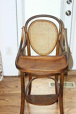 Antique Jacob & Josef Kohn Extremely Rare Childs BentWood High Chair 1874 COOL