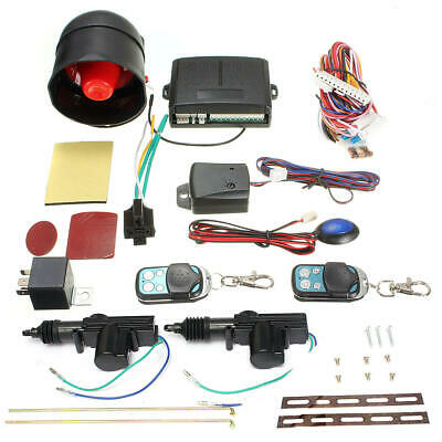 Vehicle Central Locking Remote Kit Universal Car Alarm Immobiliser Shock Sensor