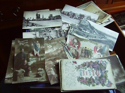 Ww1 Postcards From L/C K.s.l.i.old Contempable To Family In Rochdale Trio