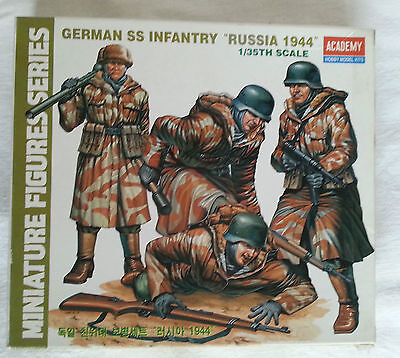 """Maquette ACADEMY 1/35 SOLDATS Military GERMAN SS INFANTRY """"RUSSIA 1944"""""""