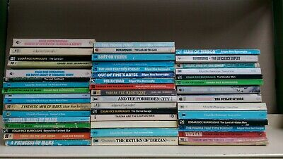 Edgar Rice Burrows: job lot collection of 47 adult fiction books