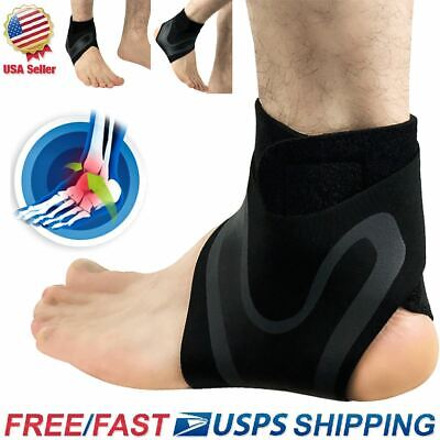 Adjustable Sports Elastic Ankle Brace Support Basketball Protector Foot Wrap US
