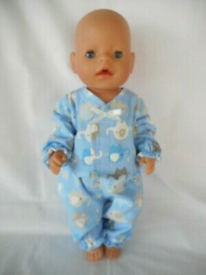 Handmade dolls clothes (Winter Pyjamas set) fit 40-43cm 17inch, Baby Born doll
