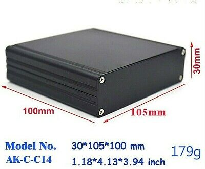 Aluminum PCB Instrument Box Enclosure Electronic Project Case Black 105x100x30mm