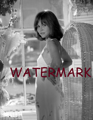 Award Winning Actress Sally Field Younger White Sleeping Dress Publicity Photo