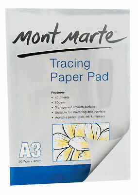 Mont Marte Tracing Paper Pad A3 60gsm 40 Sheet