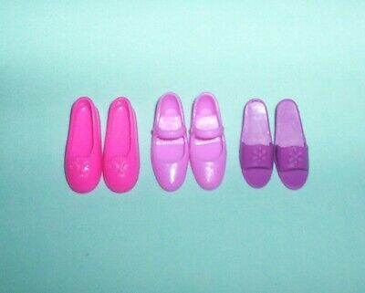 Barbie 4 Flat Foot JAZZIE Doll 3 Pairs Shoes Clothing Flats, Mary Janes, Sandals