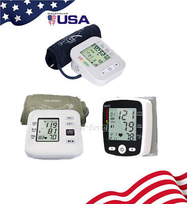 Digital LCD Blood Pressure Monitor Upper Arm / Wrist Heart Beat Meter Machine