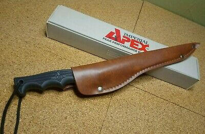 """Imperial Fishing Knives~Apex Model Ap16 ~6"""" Blade + Brown Leather Sheath ~ Nos"""