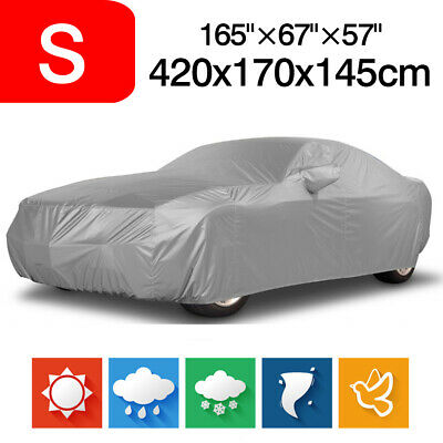 S Full Car Cover 170T Waterproof UV Sun Dust Rain Resistant Storage Protector
