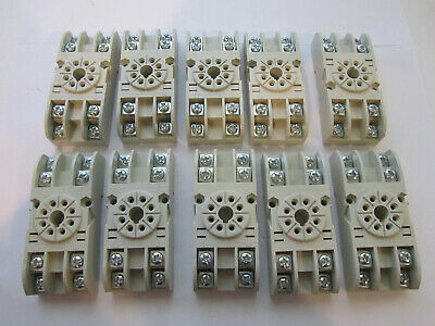 10 X Carlo Gavazzi Electromatic S408 Relay Socket 8 Pin Octal New Unused