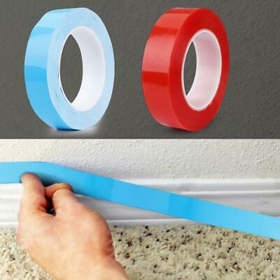 25m/roll Double-sided Tape Acrylic Foam Adhesive Glue No Traces Sticker Blue/Red