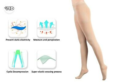 96e1352ba0e48 MD Women Compression Pantyhose 20-30 mmHg Firm Pressure Sheer Support  Stockings