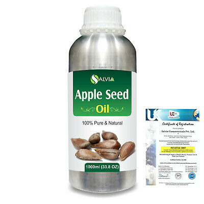 Apple Seed (Pyrus Malus) Pure Carrier Oil 1000ml/33.8Flz. Express Shipping
