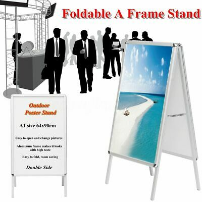 A1 Pavement Poster Holder Stand Sign Display A-Frame Snap Double Side  ^