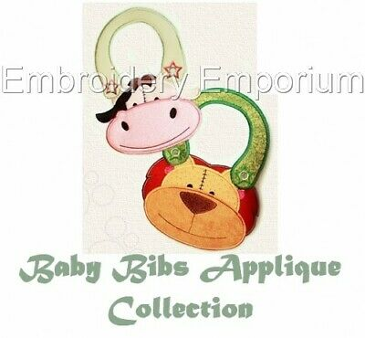 Baby Bibs Applique Collection - Machine Embroidery Designs On Cd Or Usb