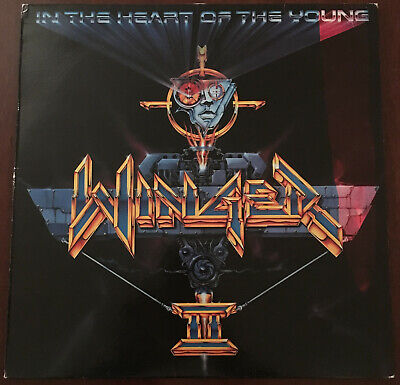 Winger In The Heart Of The Young 1st Press Vinyl Record Greek LP 1990 ORG EX