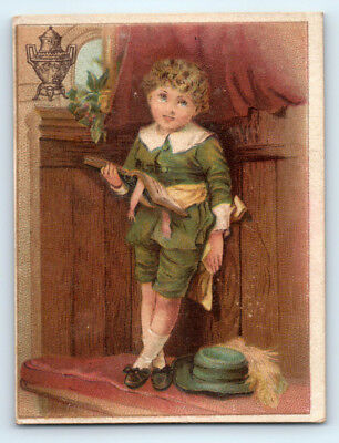 1800's Antique DILWORTH COFFEE Vintage VICTORIAN Advertising TRADE CARD