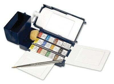 WINSOR & NEWTON NEW ARTISTS WATERCOLOUR Lightweight Field Box 12 H/Pan