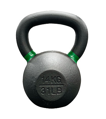 Strencor EKG Kettlebell Black Cast Iron Color-Coded - 14 kg (31 lbs)