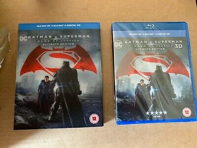 Batman v Superman Dawn of Justice Ultimate Edition 3D Blu-Ray NEW & SEALED