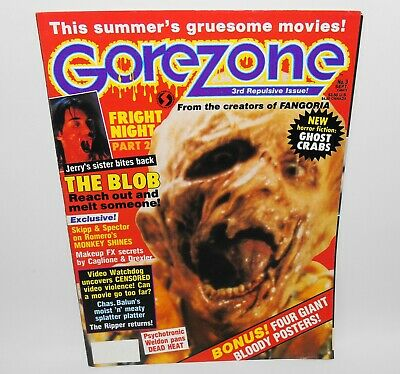 Gorezone #3 Horror Magazine 1988 The Blob Fright Night 2
