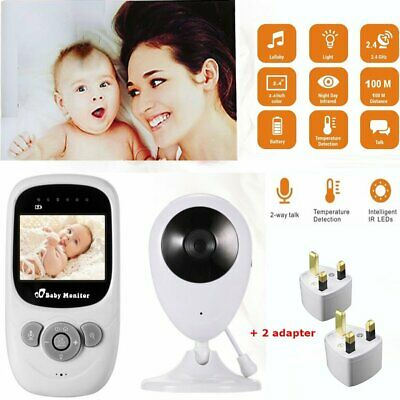 "2.4"" Audio Video Baby Monitor Wireless Digital Camera Night Vision Safety EU"
