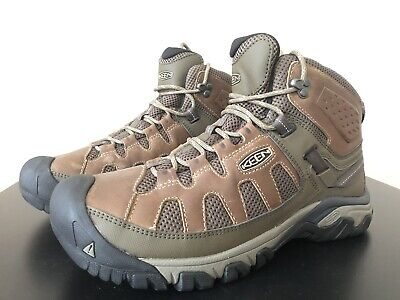 e8bdff60dbd KEEN TARGHEE III WP Mid Mens Brown Leather Hiking Lace Up Boots ...