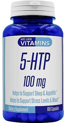 5-HTP Max Strength 100mg – 180 Capsules – 6 Month Supply - Best Value 5HTP Su...