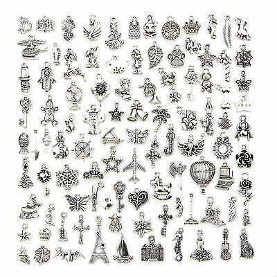 Charms for Jewelry Making 100 Style Pendants for Bracelets Necklace and Crafting