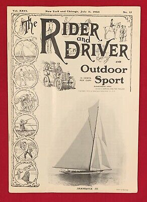 Early 1903 Rider and Driver Magazine Horses & Outdoor Sports Antique 7/11/1903