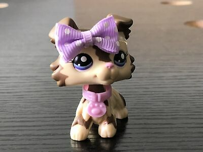 With magnet Littlest Pet Shop LPS Collie Dog #2210 & 2 Accessories Authentic