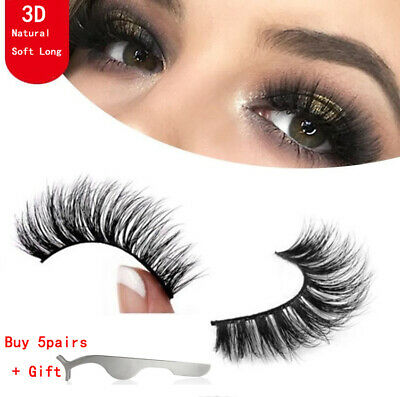 Top 3D 100% Mink Soft Long Natural Thick Makeup Eye Lashes False Eyelashes